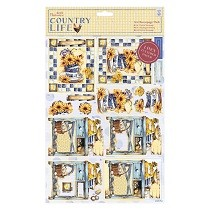 Papermania® Country Life Collection - A4 Decoupage Pack, Linen - Country Garden