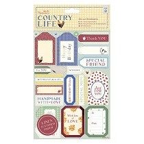 Papermania® Country Life Collection - A5 Die-cut Sentiments, Linen (2pk)