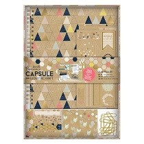 Papermania® Capsule Collection, Geometric Kraft - Scrap Book Set