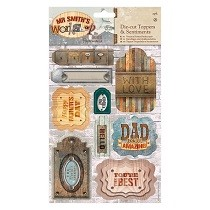 Papermania® Mr Smith's Workshop Collection - A5 Die-Cut Sentiments (2pk)