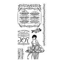Graphic 45 Cling Mounted Stamp Set - Cafe Parisian #2