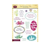 Justrite® Clear Stamp Set - Large Oval Wishes
