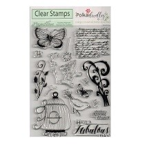 Polkadoodles® A5 Clear Stamp Set - Belle Papillon