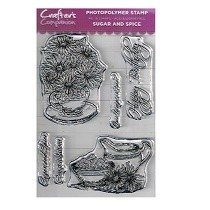 Crafter's Companion Clear Stamp Set - Sugar and Spice