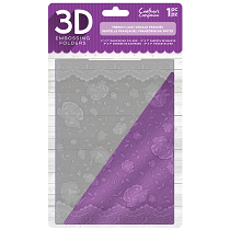 Crafter's Companion 3D Embossing Folder 5 x 7 - French Lace