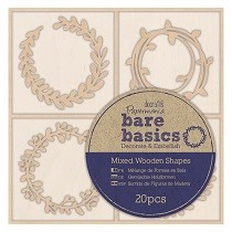 Papermania® Bare Basics Wooden Shapes (20pcs) - Wreaths