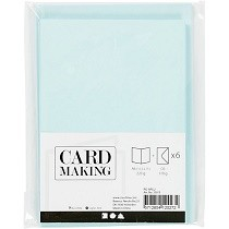 Creativ Company® Cards & Envelopes (C6) pack - Smooth Matt, Candy Blue