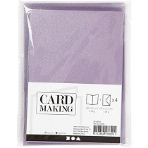 Creativ Company® Cards & Envelopes (C6) pack - Mother of Pearl, English Lavender
