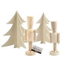 Creativ Company® Plain Wooden Nutcracker Christmas Collection (4 pcs)