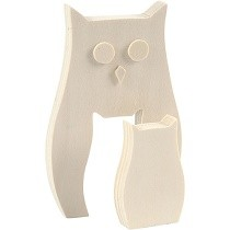 Creativ Company® Plain Wooden 2-in-1 Owls Set (2 pcs)