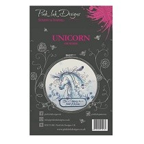 **BRAND NEW** Pink Ink Designs® A5 Clear Stamp Set - Unicorn