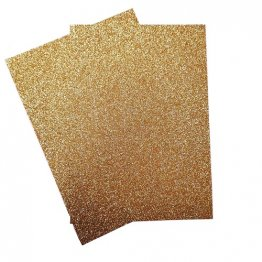 Craftstyle© A4 Glitter Card Non-shedding 2 pk - Bright Gold