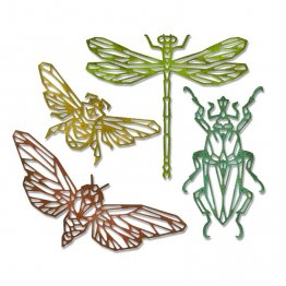 Sizzix® Thinlits™ Die Set 4PK - Geo Insects by Tim Holtz®