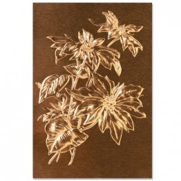 Sizzix® 3-D Texture Fades™ Embossing Folder - Poinsettia by Tim Holtz®