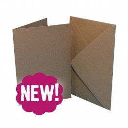 Craft UK© Ltd - 7 x 10 Kraft Cards & Envelopes, 25 pk