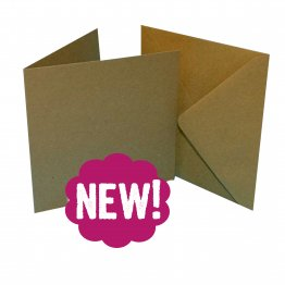 Craft UK© Ltd - 7 x 7 Kraft Cards & Envelopes, 25 pk