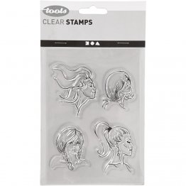 Creativ Company® Clear Stamp Set - Hair Style