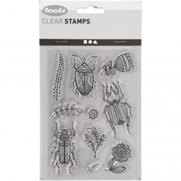 Creativ Company® Clear Stamp Set - Retro Bugs