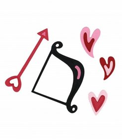 Sizzix™ Medium Sizzlits® Die Pack - Cupid Bow & Arrow w/Hearts Set by Scrappy Cat™