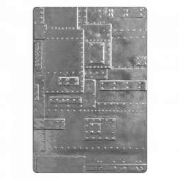 Sizzix® 3-D Texture Fades™ Embossing Folder - Foundry by Tim Holtz®