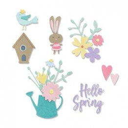 Sizzix® Thinlits™ Die Set 16PK - Hello Spring by Olivia Rose®