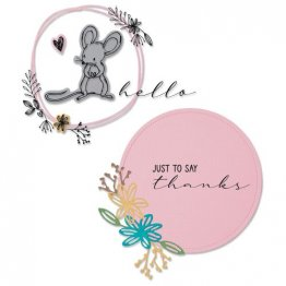 Sizzix™ Framelits™ Die Set 8PK w/Stamps - Hello Mouse by Lisa Jones®