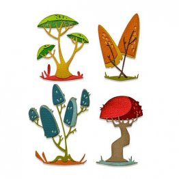 Sizzix® Thinlits™ Die Set 5PK - Funky Toadstools by Tim Holtz®