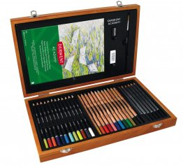 Derwent® Academy Artists Wooden Box Set (35 pcs)