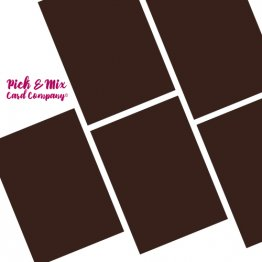 Pick & Mix Card Company© A4 (5pk) - Bonfire Toffee Brown