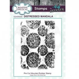 Creative Expressions® Stamps by Andy Skinner® - Distressed Mandala