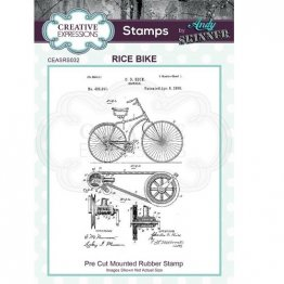 Creative Expressions® Stamps by Andy Skinner® - Rice Bike