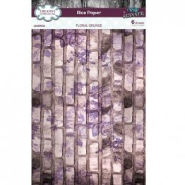 Creative Expressions® Rice Paper Pack (6 pcs) by Andy Skinner® - Floral Grunge