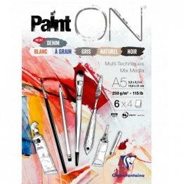 ClaireFontaine™ Paint ON A5 Media Pad - Mix Media