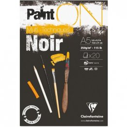 ClaireFontaine™ Paint ON A5 Media Pad - Noir