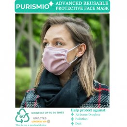 Purismio◊ Advanced Reusable Protective Face Mask - Single, Pink