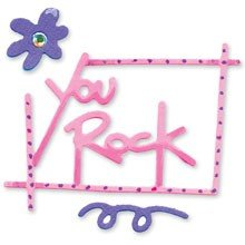 Sizzix® Small Sizzlits® Die - Phrase, You Rock by Emily Humble™