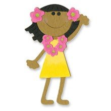 Sizzix® Medium Sizzlits® Die - Girl, Hawaiian by Me & My Big Ideas™