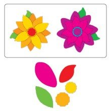 Sizzix™ Small Sizzlits® Die Pack - Build a Flower Set #2 by Stu Kilgour™