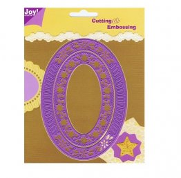 Joy Crafts Stencil Cutting & Embossing - Oval Frame