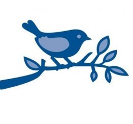 Marianne D Creatables - Bird On Branch SMALL