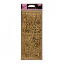 Anita's Outline Stickers - Good WIne (Gold)