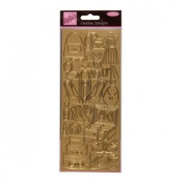 Anita's Outline Stickers - Handbags & Gladrags (Gold)