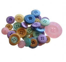 Crafts Too - Mixed Button Pack, Pastels