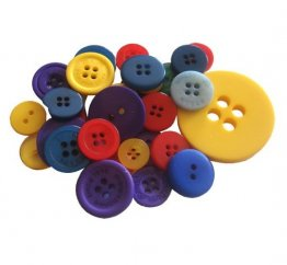 Crafts Too - Mixed Button Pack, Primary