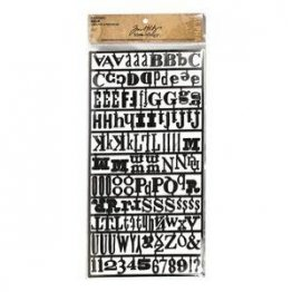 Tim Holtz® Idea-ology - Alpha Parts, Ransom (126 Pcs)