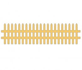 Cheery Lynn Designs® Die - Victorian Picket Fence