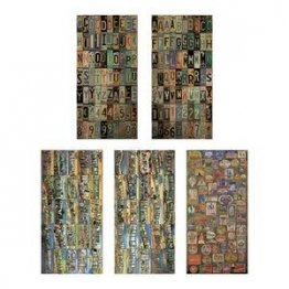 Tim Holtz® idea-ology - Salvage Stickers - Destinations
