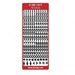 Pinflair Peel Off Sheet - Numbers Small, Rounded (Silver)