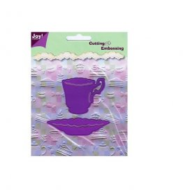 Joy Crafts Stencil Cutting & Embossing - Cup & Saucer (Large)