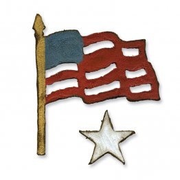 Sizzix® Movers & Shapers™ Magnetic Die Set 2PK - Mini Old Glory Set by Tim Holtz